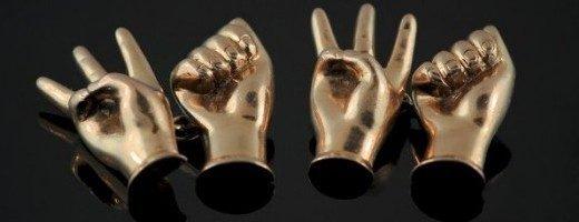 Запонки - язык жестов