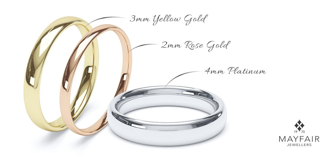 Классические простые свадебные кольца (для невесты и жениха) bd55657e47e
