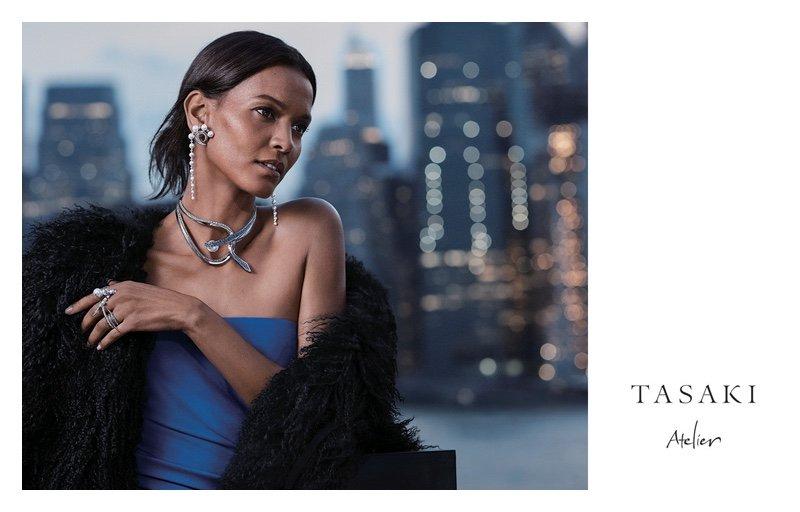 Лия Кебеде позирует в городских пейзажах для рекламной кампании ювелирных изделий Tasaki