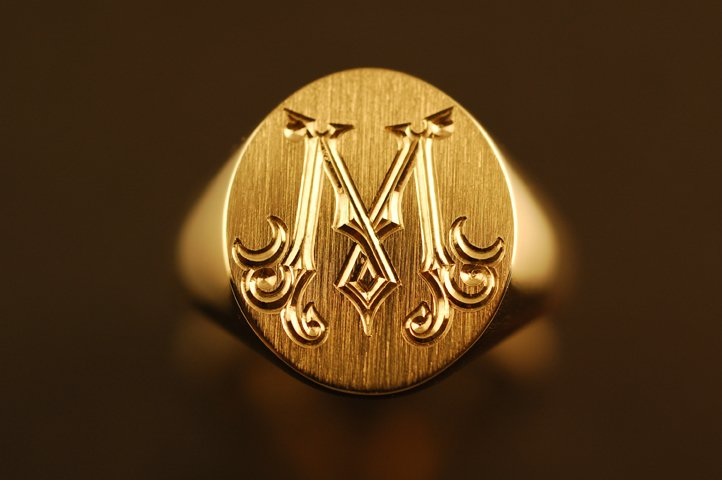 мужские печатки из серебра со знаком овна