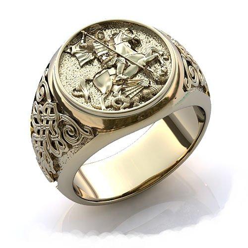 кольца серебряные мужские со знаком зодиака