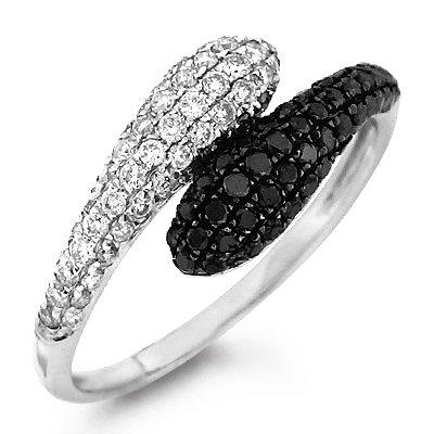 золото кольцо с черным бриллиантом