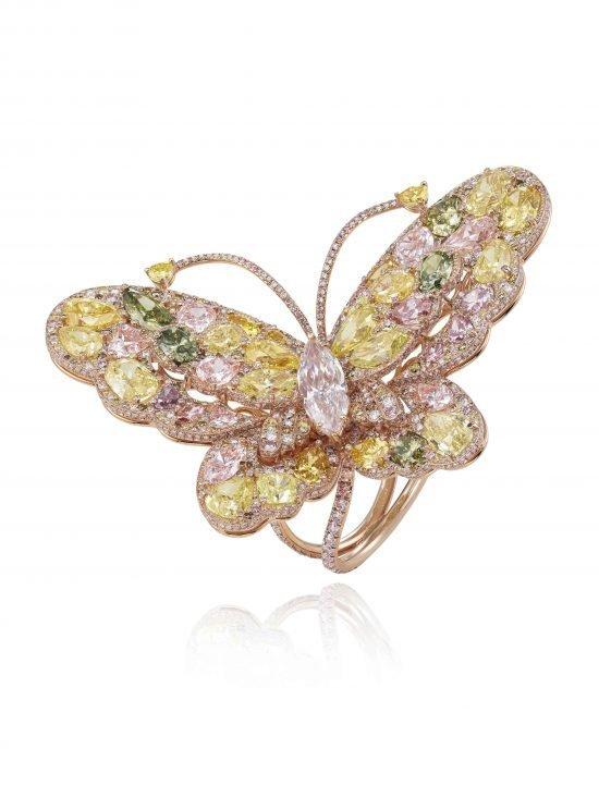 Коллекция Chopard Red Carpet 2014 - кольцо Бабочка
