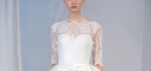 Модель одета в свадебное платье Marchesa. Бренд запустит свою первую ювелирную линию в сезоне осень-зима 2014