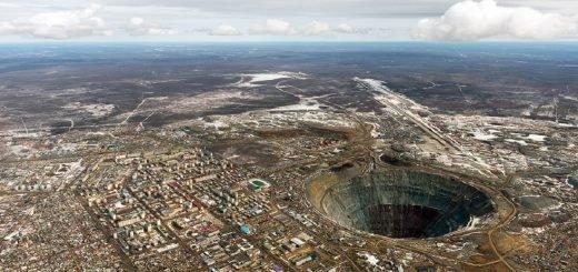 Алмазный рудник - в якутии
